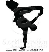 Vector Illustration of Silhouetted Male Dancer by AtStockIllustration