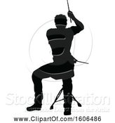 Vector Illustration of Silhouetted Male Drummer by AtStockIllustration