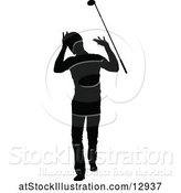 Vector Illustration of Silhouetted Male Golfer by AtStockIllustration