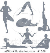Vector Illustration of Silhouetted Yoga Women Version 2 by AtStockIllustration