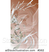 Vector Illustration of Silver Technology Scraps Exploding over Brown by AtStockIllustration