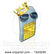 Vector Illustration of Sim Card Cool King Cool Mobile Phone by AtStockIllustration