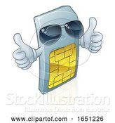 Vector Illustration of Sim Card Mobile Phone Cool Mascot by AtStockIllustration