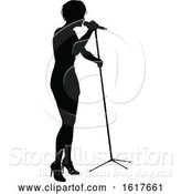 Vector Illustration of Singers Pop Country Rock Hiphop Star Silhouette by AtStockIllustration