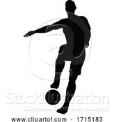 Vector Illustration of Soccer Football Player Silhouette by AtStockIllustration
