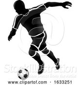 Vector Illustration of Soccer Football Player Sports Silhouette by AtStockIllustration