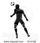 Vector Illustration of Soccer Player Sports Silhouette by AtStockIllustration