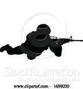 Vector Illustration of Soldier Military Detailed Silhouette by AtStockIllustration