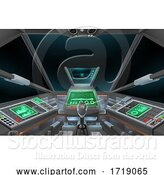 Vector Illustration of Spaceship Space Ship or Air Plane Interior Cockpit by AtStockIllustration