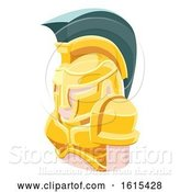 Vector Illustration of Spartan Guy Avatar People Icon by AtStockIllustration