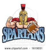 Vector Illustration of Spartan Trojan American Football Sports Mascot by AtStockIllustration