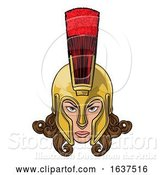Vector Illustration of Spartan Trojan Athena Britannia Lady Warrior by AtStockIllustration