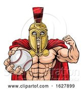 Vector Illustration of Spartan Trojan Baseball Sports Mascot by AtStockIllustration