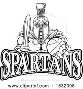 Vector Illustration of Spartan Trojan Basketball Sports Mascot by AtStockIllustration