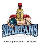 Vector Illustration of Spartan Trojan Bowling Sports Mascot by AtStockIllustration