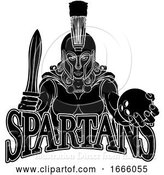 Vector Illustration of Spartan Trojan Gladiator Bowling Warrior Lady by AtStockIllustration