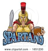 Vector Illustration of Spartan Trojan Gladiator Football Warrior Lady by AtStockIllustration