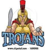 Vector Illustration of Spartan Trojan Gladiator Golf Warrior Lady by AtStockIllustration