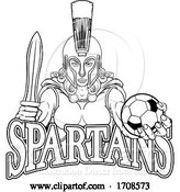 Vector Illustration of Spartan Trojan Gladiator Soccer Warrior Lady by AtStockIllustration