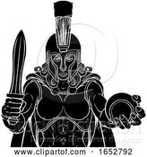 Vector Illustration of Spartan Trojan Gladiator Tennis Warrior Lady by AtStockIllustration