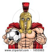 Vector Illustration of Spartan Trojan Soccer Football Sports Mascot by AtStockIllustration