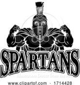 Vector Illustration of Spartan Trojan Sports Mascot by AtStockIllustration