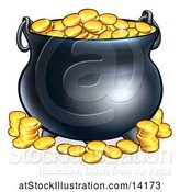 Vector Illustration of St Patricks Day Leprechaun Pot of Gold by AtStockIllustration