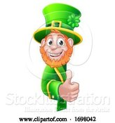 Vector Illustration of St Patricks Day Leprechaun Sign by AtStockIllustration