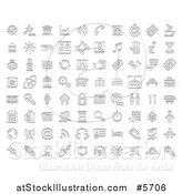 Vector Illustration of Stamp Styled Media and Website Icons by AtStockIllustration