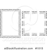 Vector Illustration of Stationery Border with Flowers and Vines by AtStockIllustration