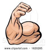 Vector Illustration of Strong Arm Showing Biceps Muscle by AtStockIllustration