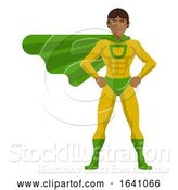 Vector Illustration of Super Hero Asian Guy by AtStockIllustration