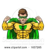 Vector Illustration of Superhero Character by AtStockIllustration