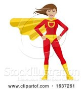 Vector Illustration of Superhero Lady by AtStockIllustration