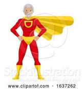 Vector Illustration of Superhero Mature Guy by AtStockIllustration