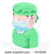 Vector Illustration of Surgeon Doctor Guy Avatar People Icon by AtStockIllustration