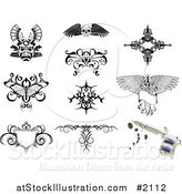 Vector Illustration of Tattoo Designs by AtStockIllustration