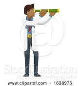 Vector Illustration of Telescope Spyglass Doctor Concept by AtStockIllustration