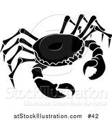 Vector Illustration of the Black Cancer Astrology Sign of the Zodiac, the Crab by AtStockIllustration