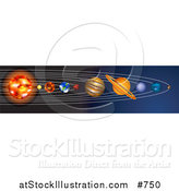 Vector Illustration of the Planets of the Solar System by AtStockIllustration