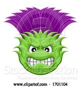 Vector Illustration of Thistle Plant Flower Mean Sports Mascot by AtStockIllustration