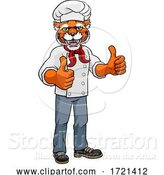Vector Illustration of Tiger Chef Mascot Character by AtStockIllustration