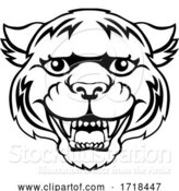 Vector Illustration of Tiger Mascot Cute Happy Character by AtStockIllustration