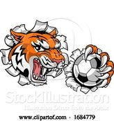 Vector Illustration of Tiger Soccer Football Player Animal Sports Mascot by AtStockIllustration
