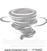 Vector Illustration of Tornado Twister Hurricane or Cyclone Icon Concept by AtStockIllustration