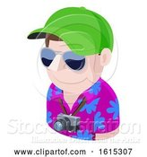 Vector Illustration of Tourist Guy Avatar People Icon by AtStockIllustration