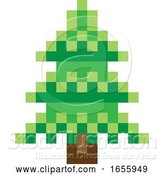 Vector Illustration of Tree Pixel 8 Bit Video Game Art Icon by AtStockIllustration