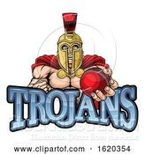 Vector Illustration of Trojan Spartan Cricket Sports Mascot by AtStockIllustration