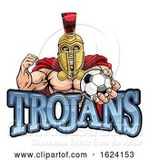 Vector Illustration of Trojan Spartan Soccer Football Sports Mascot by AtStockIllustration