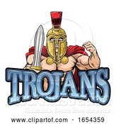 Vector Illustration of Trojan Spartan Sports Mascot by AtStockIllustration